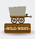 Western design, vector illustration. Royalty Free Stock Photos