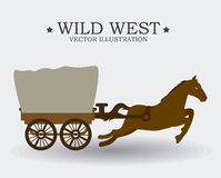 Western design, vector illustration. Royalty Free Stock Images