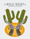 Western design, vector illustration. Stock Image