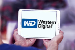 Western Digital Corporation logo. Logo of Western Digital Corporation on samsung tablet. Western Digital Corporation is an American computer data storage company stock photo