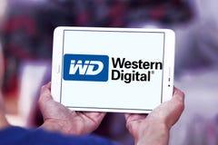 Western Digital Corporation logo. Logo of Western Digital Corporation on samsung tablet. Western Digital Corporation is an American computer data storage company Stock Photo