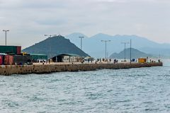 Western district cargo pier in Hong Kong. Western district cargo pier in HongKong royalty free stock photo