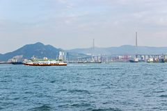 Western district cargo pier in Hong Kong. Western district cargo pier in HongKong royalty free stock image