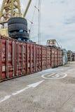 Western district cargo pier in Hong Kong. Western district cargo pier in HongKong stock images
