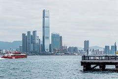 Western district cargo pier in Hong Kong. Western district cargo pier in HongKong royalty free stock photos