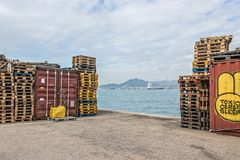 Western district cargo pier in Hong Kong. Western district cargo pier in HongKong royalty free stock images