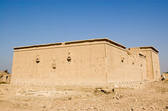 Western elevation, Dendera Temple, Egypt. View of the rear, western elevation of the ancient Egyptian Dendera Temple near Qena, Egypt Stock Image
