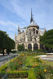 The Western End of Notre Dame Cathedral, Paris France stock image