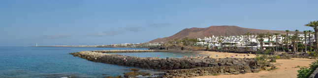 Western end of Playa Blanca Royalty Free Stock Images