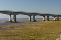 Western end of the Second Severn Crossing, bridge over Bristol C Royalty Free Stock Photography