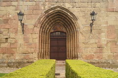 Western entrance in the fortified church of Harman , Brasov,Transylvania, Romania Royalty Free Stock Photo