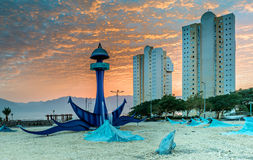 Free Western Entrance To Eilat At Dawn Royalty Free Stock Photography - 35700677