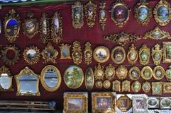 Western European classical bronze mirror. Indoor decoration design Royalty Free Stock Images