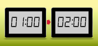 Western European summer time starts. Aka BST, clocks forward. Royalty Free Stock Photos