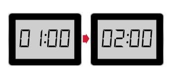 Western European summer time starts. Aka BST, clocks forward. Royalty Free Stock Photography