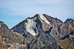Western flank of Peak Enfer 3082 m in Spanish Pyrenees Stock Images