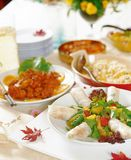 Western Food. Dish display stock image