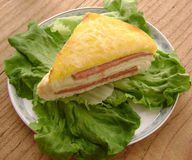 Western food bread and lettuce Royalty Free Stock Photos