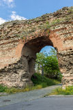 The Western gate of Diocletianopolis Roman city wall, town of Hisarya, Bulgaria Royalty Free Stock Photos