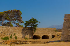 Western Gate of Fortezza in Rethymno. Royalty Free Stock Photo