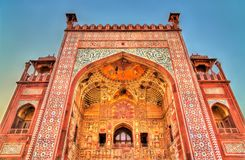 Western Gate of Sikandra Fort in Agra - Uttar Pradesh, India. Western Gate of Sikandra Fort in Agra - Uttar Pradesh State of India stock photography