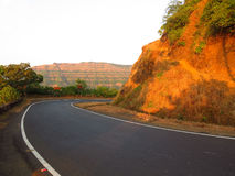 Western Ghats. The curving slope in the western ghats in India in the state of Maharashtra Stock Photography