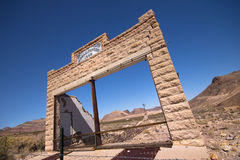 Western Ghost Town Stock Photo