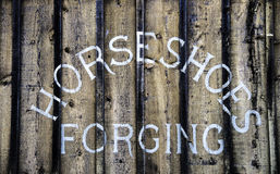 Western ghost town livery stable sign Royalty Free Stock Images