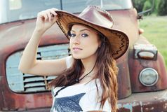 Western girl Royalty Free Stock Images