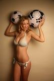 Western girl in a bikini Stock Photography