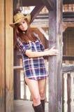 Western girl Royalty Free Stock Photo