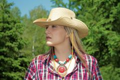 Western girl Royalty Free Stock Image