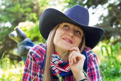 Western girl Stock Photo