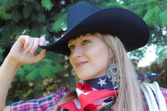 Western girl Stock Photos