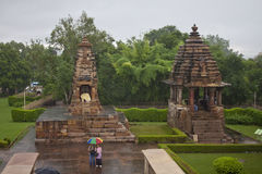 Western group of temples in Khajuraho Stock Image