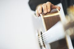 Western guitar with player Stock Photos