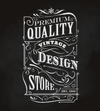 Western hand drawn frame antique label blackboard typography Stock Images