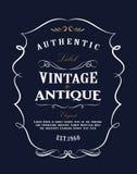 Western Hand drawn frame design vintage label Antique banner flourishes vector. Illustration vector illustration