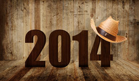 Western 2014. Western happy new year 2014 Stock Image