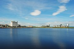 Western Harbour in Edinburgh. royalty free stock photography