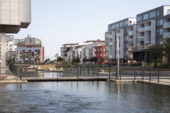 Western Harbour, Malmoe. Modern buildings in Western Harbour, Malmoe Royalty Free Stock Image