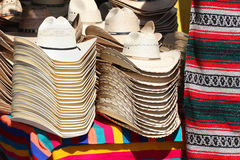 Western Hats. Stack of western hats at the market Royalty Free Stock Photos
