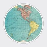 Western Hemisphere, World Atlas by Rand, McNally and Co. 1908 Digitally enhanced by rawpixel. stock illustration