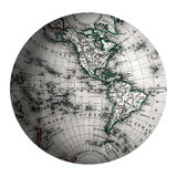 Western Hemispheres World. View of North and South America Royalty Free Stock Images