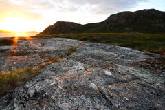 The western Highlands sunset. Sunset in the wilderness western Highlands during summer Stock Images