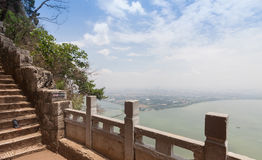 Western Hills or Xishan Mountain and Dianchi lake Stock Photo