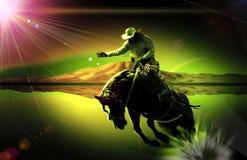 Western horseman. Photographed on 22 agosto 2016 Stock Photos