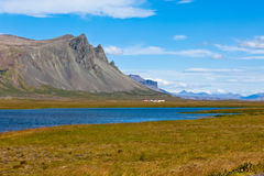 Western Icelandic mountain landscape under a blue summer sky Royalty Free Stock Photo