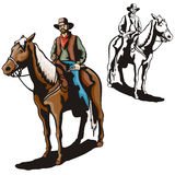 Western illustration series Stock Image