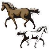 Western illustration series Royalty Free Stock Photo